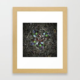 nary entwined subjective traits Framed Art Print