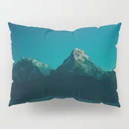 Magical Blue Mountains Star Night Sky Ombre Sunset Pillow Sham