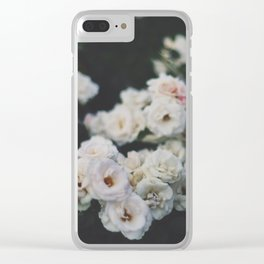 Cold Roses Clear iPhone Case