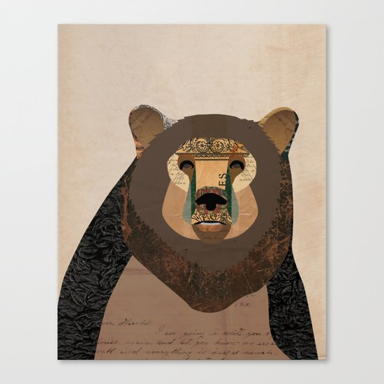 Bear Collage Canvas Print