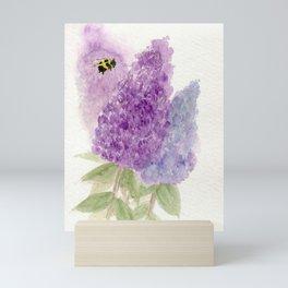 Watercolor Lilacs Spring Garden Flowers Mini Art Print