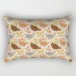 Springtime Chickens Rectangular Pillow