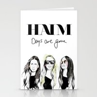 haim Stationery Cards featuring Haim Days are gone by Mariam Tronchoni