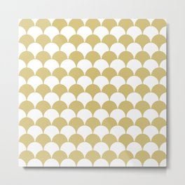 Fan Pattern 321 Gold Metal Print
