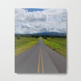 Costa rica nature endless road Metal Print