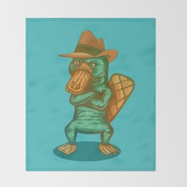 Perry the Platypus Throw Blanket
