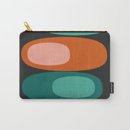 Dream On - 70's retro throwback minimal pebbles stones trendy colors art 1970s Carry-All Pouch