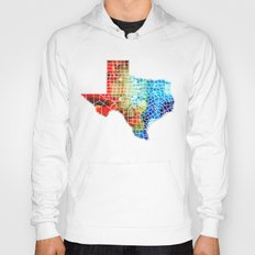 Texas Map - Counties By Sharon Cummings Hoody