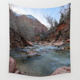 Virgin_River in Winter - Zion_National_Park Wall Tapestry