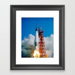 First manned orbital space flight Framed Art Print