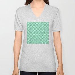 Mint Turquoise Pattern Unisex V-Neck