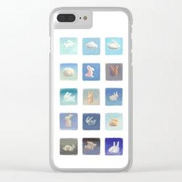 Rabbit Clouds Clear iPhone Case