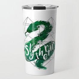 Slytherin Silver Splatter Travel Mug