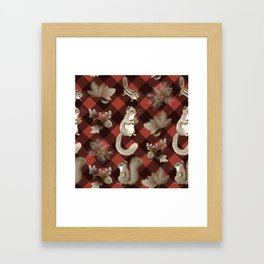 Squirreling Framed Art Print