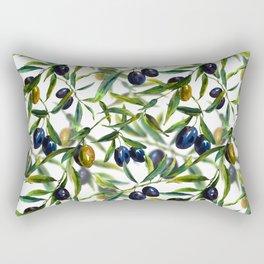 Mediterranean pattern — Olives Rectangular Pillow