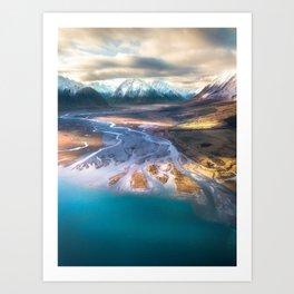 """Ohau Beautiful"" - High above Lake Ohau, New Zealand Art Print"