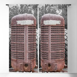 McCormick-Deering Rusted Grill Rusty Farmall Tractor Front End Blackout Curtain