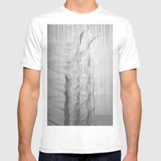 Bunny Girl Glitch Mens Fitted Tee White MEDIUM