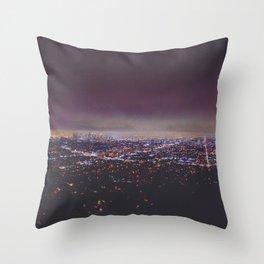 Smokey Skyline Throw Pillow