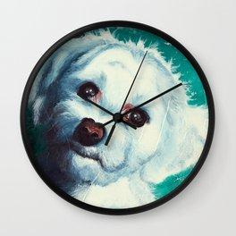 Maltese dog - Pelusa - by LiliFlore Wall Clock