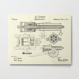 Machine Gun-1862 Metal Print