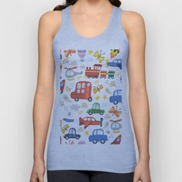 Transportation Unisex Tank Top