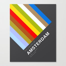 Colors of Amsterdam Canvas Print