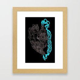 Shaman Like Jaguar Framed Art Print