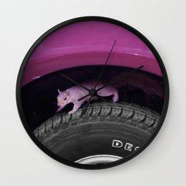 Up & down the wheel I go Wall Clock