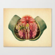 Lady Garden Botanical Canvas Print