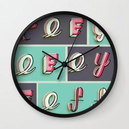 Tee-Gee-Eye-Eff Wall Clock