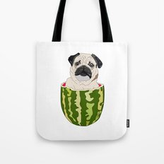 Pug Watermelon Tote Bag