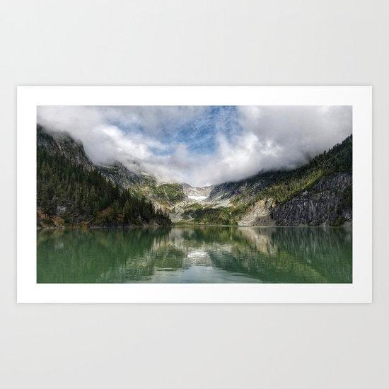 Lake Landscape #mountains Art Print