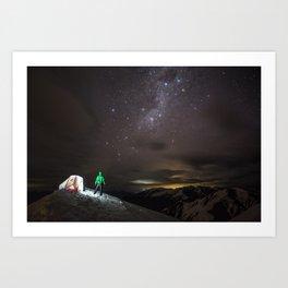 A night under the stars Art Print