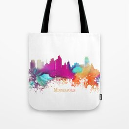 Minneapolis skyline watercolor Tote Bag