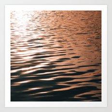Rose Gold Water Art Print