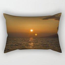 Two Suns Rectangular Pillow