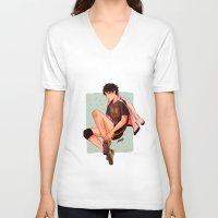 haikyuu V-neck T-shirts featuring Akaashi is pretty by NoranB
