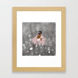 African American Ballerina Dancer Personalized Name KEISHA Framed Art Print