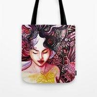 alone Tote Bags featuring Alone by Verismaya