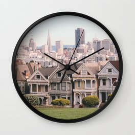 The Painted Ladies Wall Clock