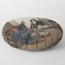 A Group of Danish Artists in Rome - Constantin Hansen Floor Pillow