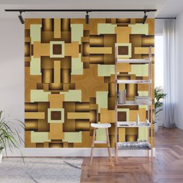 Gold Beige Pipe System,Streampunk Wall Mural
