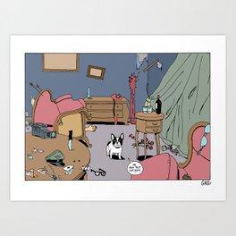 Bouledogue français. Art Print
