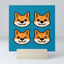 Four Red Shibas Mini Art Print