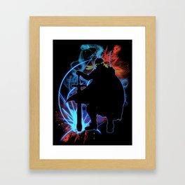 Super Smash Bros. Ike Silhouette Framed Art Print