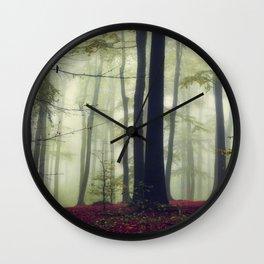 Towering Trees Wall Clock