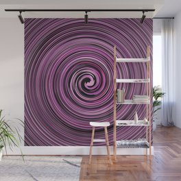 Pink and Black waves Wall Mural