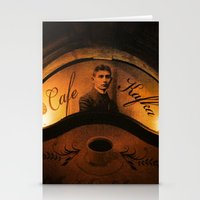 kafka Stationery Cards featuring Cafe Kafka by Bella Blue Photography