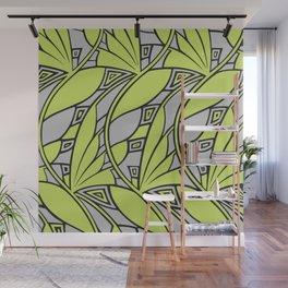 Modern art nouveau tessellations green gray Wall Mural